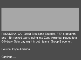 PASADENA, CA (2015) Brazil and Ecuador, FIFA's seventh 
